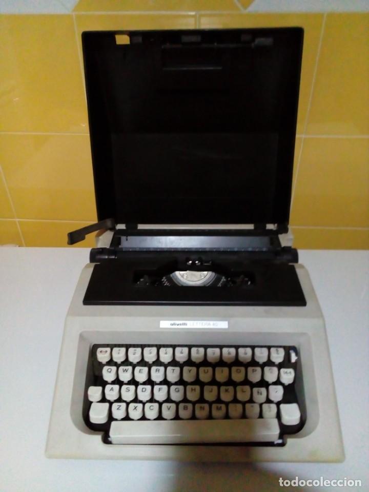 MAQUINA OLIVETTI LETTERA 40 (Antigüedades - Técnicas - Máquinas de Escribir Antiguas - Olivetti)
