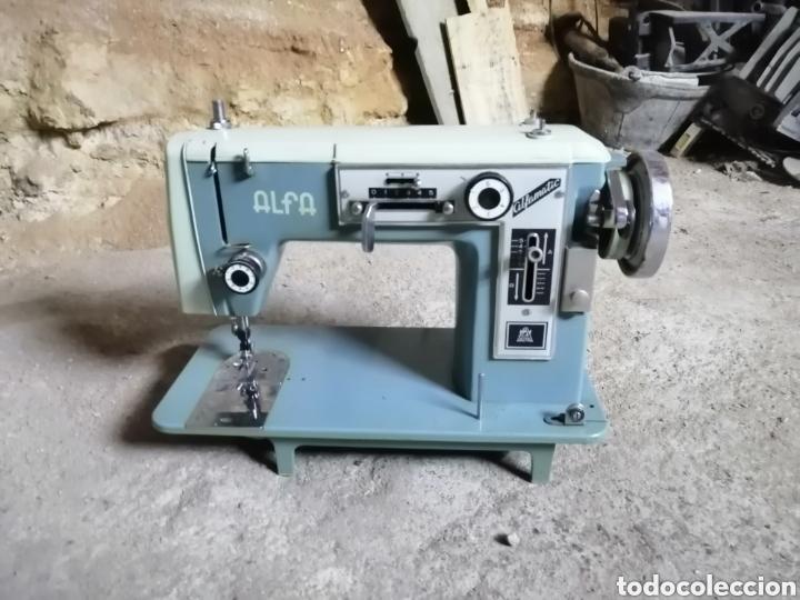 Antigüedades: Máquina de coser alfa modelo 108 - Foto 6 - 167770968