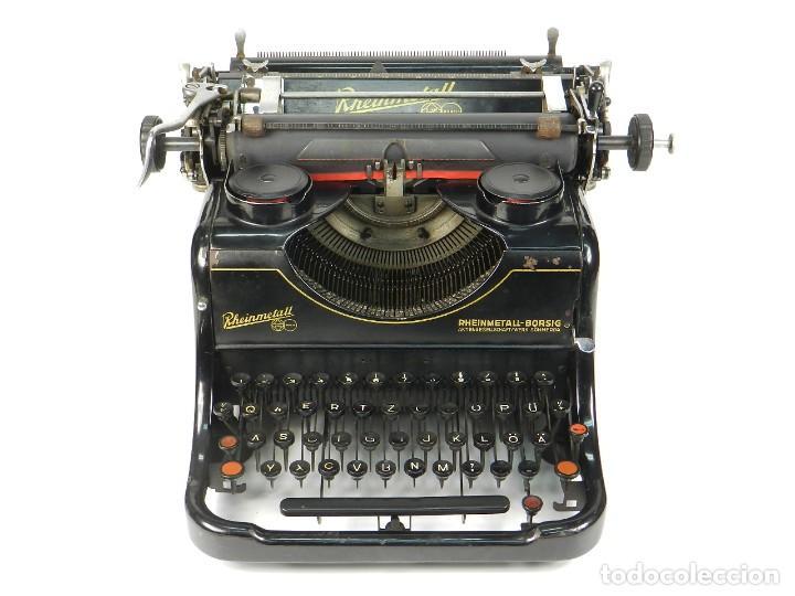MAQUINA DE ESCRIBIR RHEINMETALL AÑO 1936 TYPEWRITER SCHREIBMASCHINE (Antigüedades - Técnicas - Máquinas de Escribir Antiguas - Otras)
