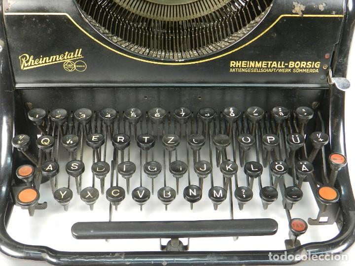 Antigüedades: MAQUINA DE ESCRIBIR RHEINMETALL AÑO 1936 TYPEWRITER SCHREIBMASCHINE - Foto 2 - 167829100