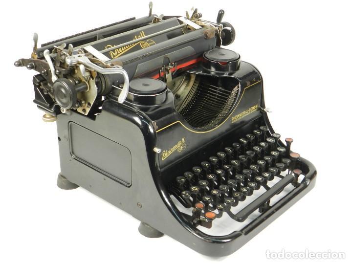 Antigüedades: MAQUINA DE ESCRIBIR RHEINMETALL AÑO 1936 TYPEWRITER SCHREIBMASCHINE - Foto 4 - 167829100
