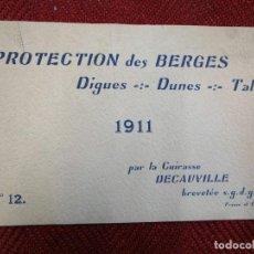 Antigüedades: CONSTRUCCION OBRA CIVIL - CATALOGO FRANCES ' PAUL DECAUVILLE ' 1911 DUNAS DIQUES, CAMINOS ETC INFO 1. Lote 167885528