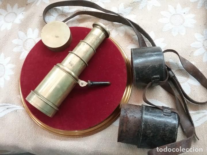 Antigüedades: CATALEJO NAVAL ANTIGUO 4 TRAZOS, CON FUNDA, FIRMADO POR M.WOERLE & KORLRUB. ( MUNCHEN). 20cm - Foto 8 - 164811686