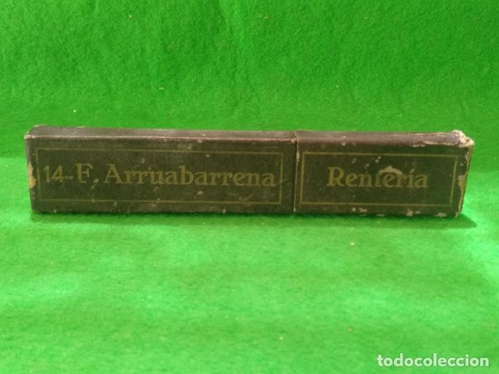 Antigüedades: NAVAJA DE AFEITAR 14 F ARRUABARRENA RENTERIA CON ESTUCHE ORIGINAL - Foto 8 - 167919944