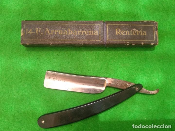 NAVAJA DE AFEITAR 14 F ARRUABARRENA RENTERIA CON ESTUCHE ORIGINAL (Antigüedades - Técnicas - Barbería - Navajas Antiguas)