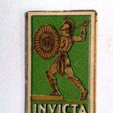 Antigüedades: HOJA DE AFEITAR ANTIGUA,INVICTA HOJA DE LUJO. Lote 195204613