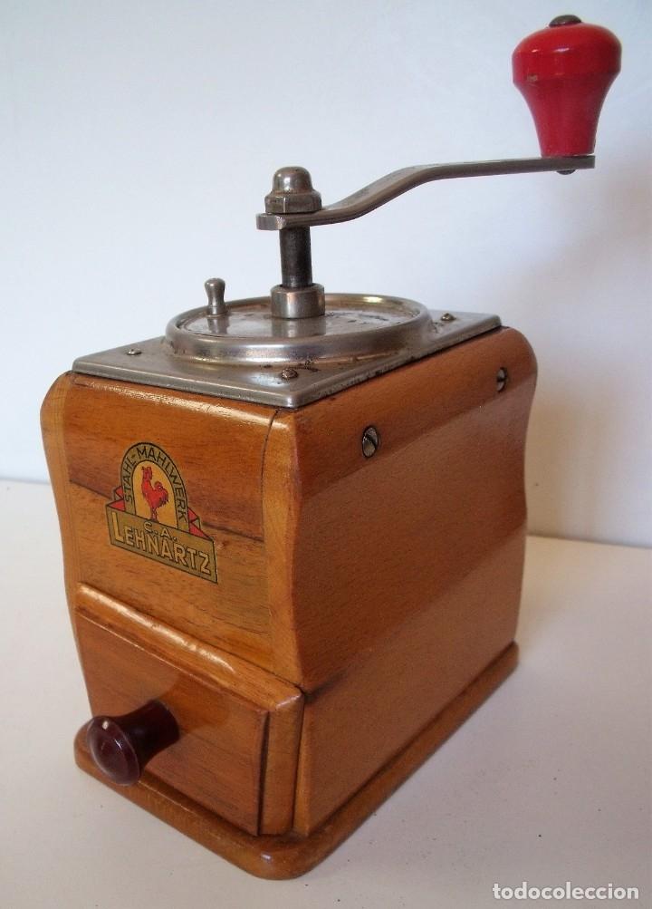 MOLINILLO DE CAFÉ MARCA LEHNARTZ. MODELO 100. ALEMANIA. CA. 1950/60 (Antigüedades - Técnicas - Molinillos de Café Antiguos)