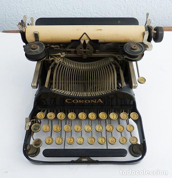Antigüedades: Máquina de escribir portátil Corona 3 - Foto 2 - 167971992