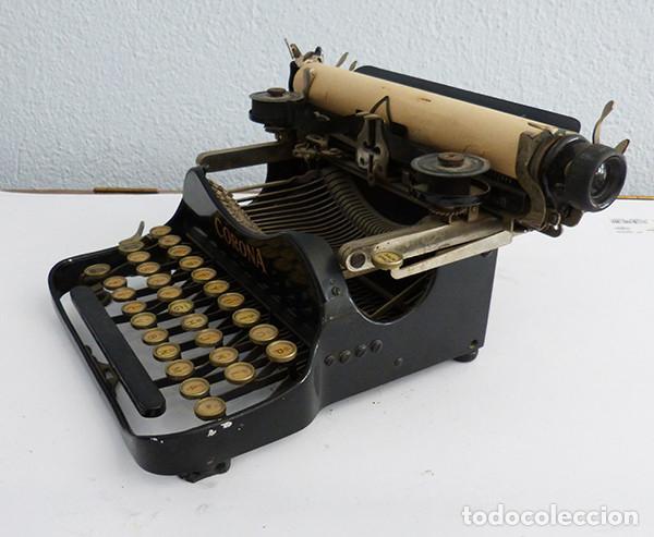 Antigüedades: Máquina de escribir portátil Corona 3 - Foto 4 - 167971992