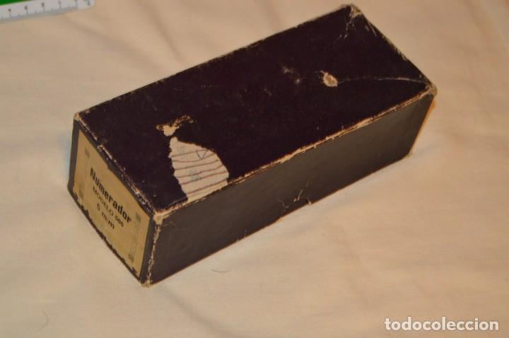 Antigüedades: ANTIGUO NUMERADOR CASCO MODELO 500 - 5 MM - EN CAJA ORIGINAL - MADE IN SPAIN - VINTAGE - MIRA! - Foto 12 - 167984548