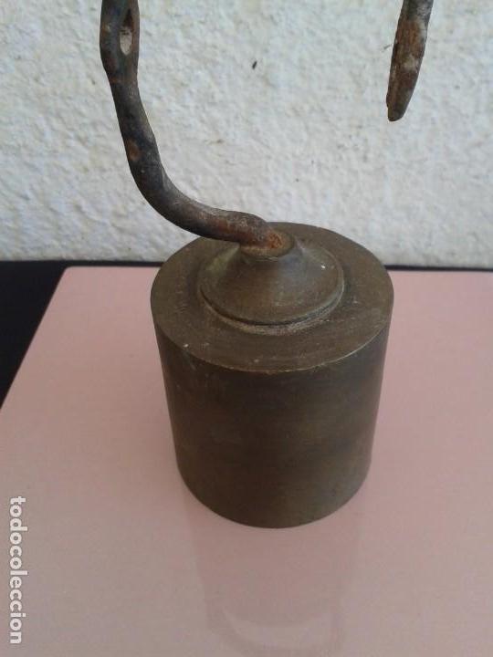 Antigüedades: PESA BRONCE ROMANA BASCULA BALANZA - Foto 2 - 168079280