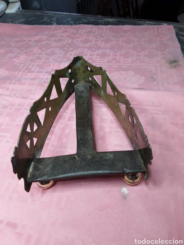 Antigüedades: Posaplanchas de latón y forja - Foto 2 - 168192609