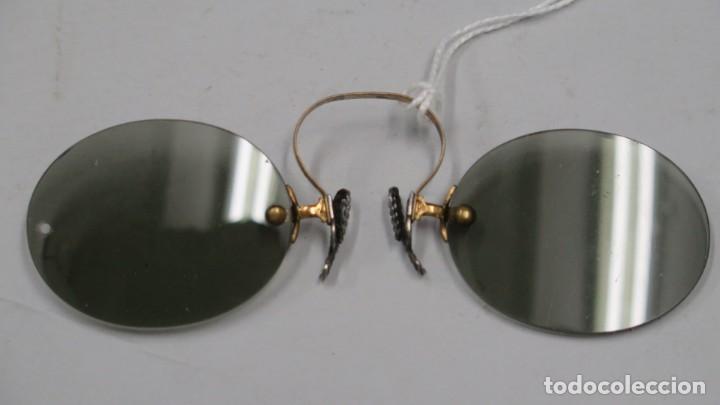 ANTIGUAS GAFAS DE SOL. POSIBLEMENTE CHAPADO ORO Y PLATA (Antigüedades - Técnicas - Instrumentos Ópticos - Gafas Antiguas)
