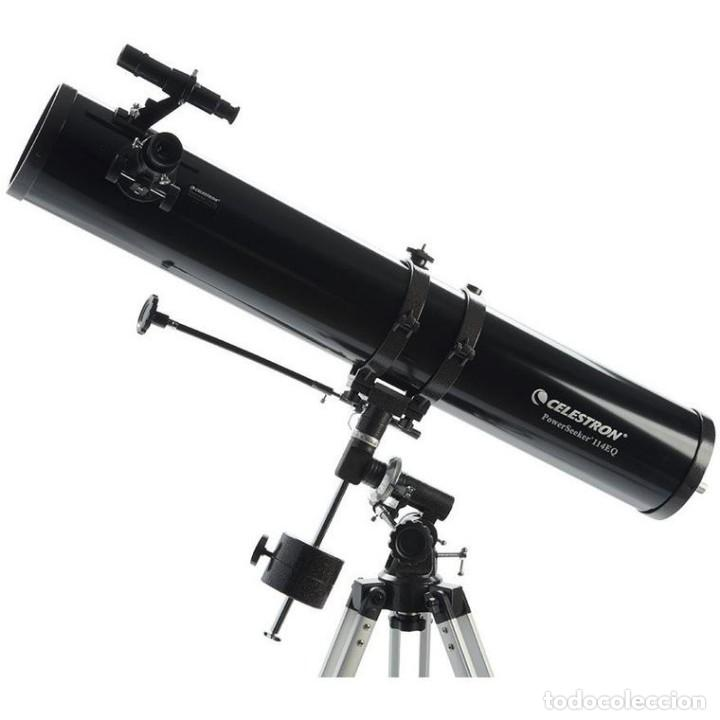 Antigüedades: TELESCOPIO REFLECTOR CELESTRON POWERSEEKER 114EQ - Foto 9 - 168349876