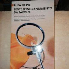 Antigüedades: LUPA DE PIE CON CAJA COMO NUEVA. Lote 168377096