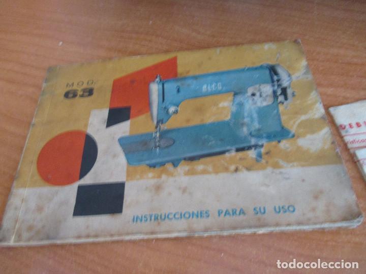 Antigüedades: ANTIGUA MAQUINA DE COSER ALGA MODELO 63 - Foto 4 - 168486084