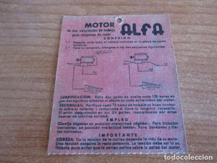 Antigüedades: ANTIGUA MAQUINA DE COSER ALGA MODELO 63 - Foto 7 - 168486084