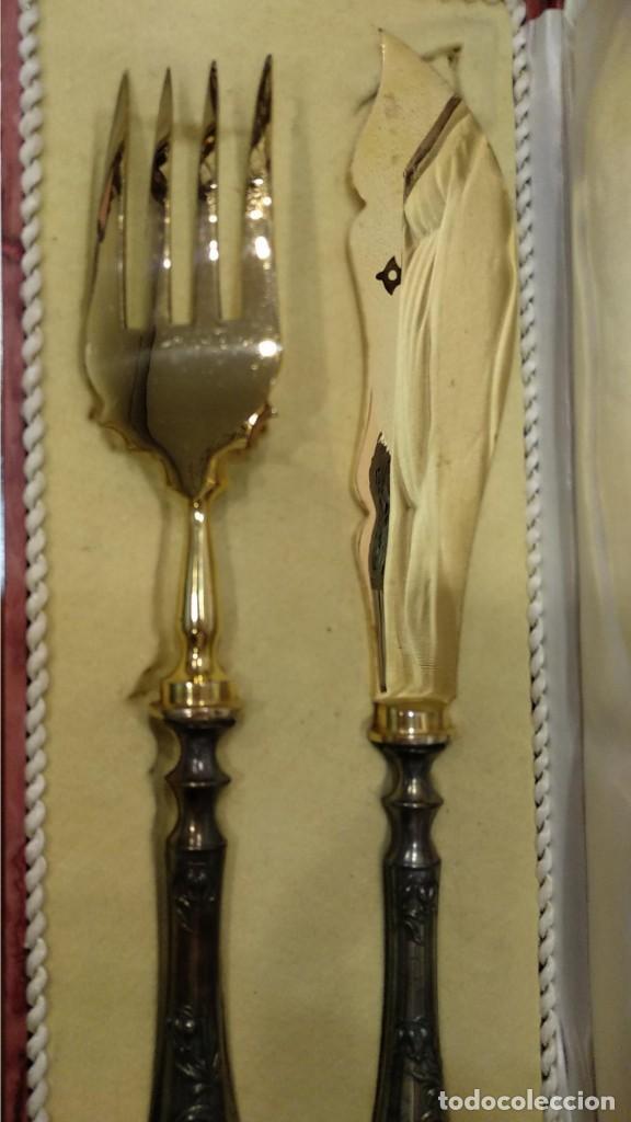 Antigüedades: Juego de tenedor y cuchillo Trincheros en Plata Vermeil - Foto 6 - 168493616