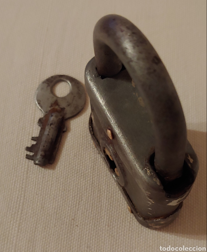 Antigüedades: Antiguo candado principios 1900 - Foto 3 - 168512370