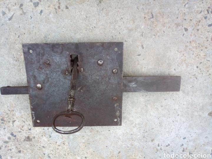 CERRADURA SIGLO XIX COMPLETA (Antigüedades - Técnicas - Cerrajería y Forja - Cerraduras Antiguas)