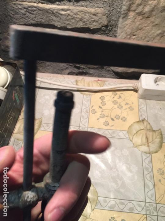 Antigüedades: Antiguo soldador de gas para estaño de los años 20-30 de madera y metal - Foto 6 - 168523168