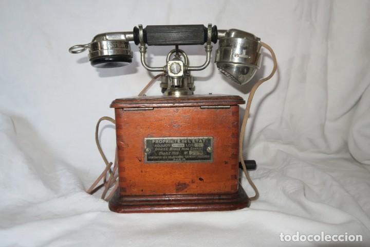 TELEFONO ANTIGUO MODELO 1910 THOMSSON HOUSTOM EN BUEN ESTADO (Antigüedades - Técnicas - Teléfonos Antiguos)