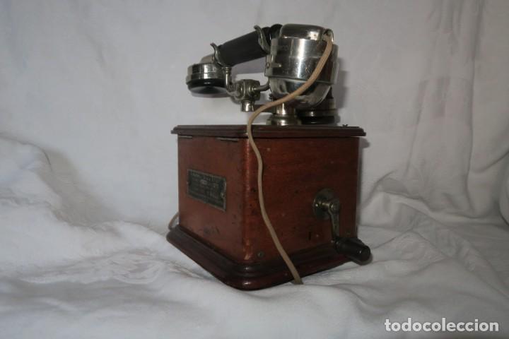 Teléfonos: Telefono antiguo modelo 1910 Thomsson Houstom en buen estado - Foto 3 - 168560400