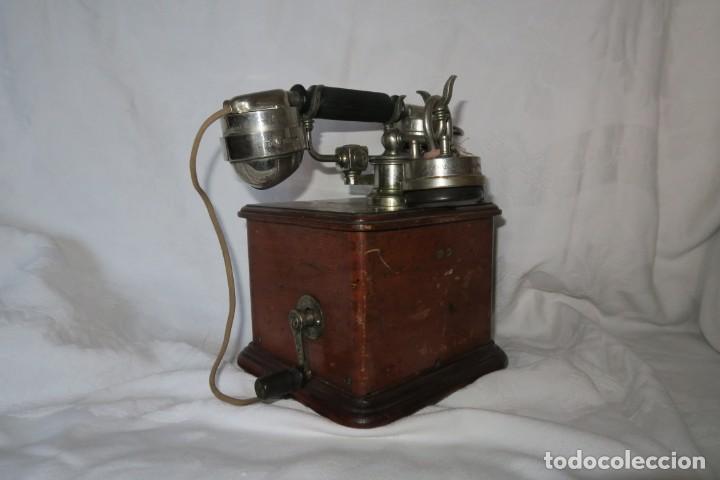 Teléfonos: Telefono antiguo modelo 1910 Thomsson Houstom en buen estado - Foto 4 - 168560400