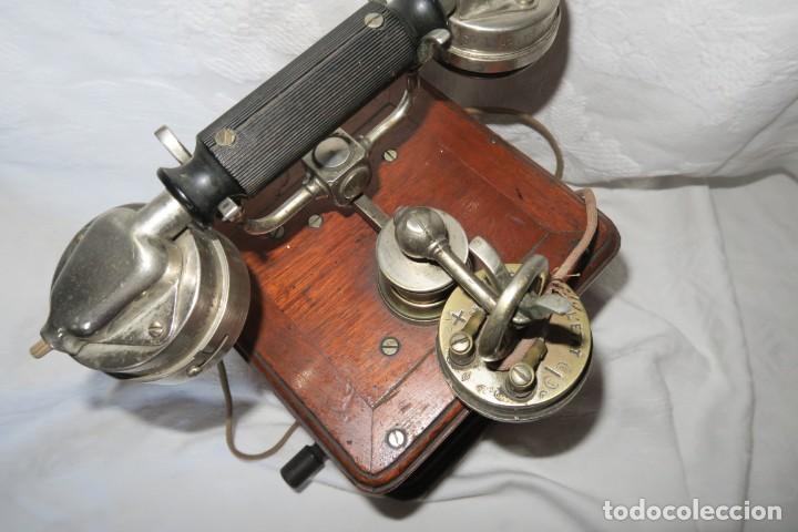 Teléfonos: Telefono antiguo modelo 1910 Thomsson Houstom en buen estado - Foto 5 - 168560400