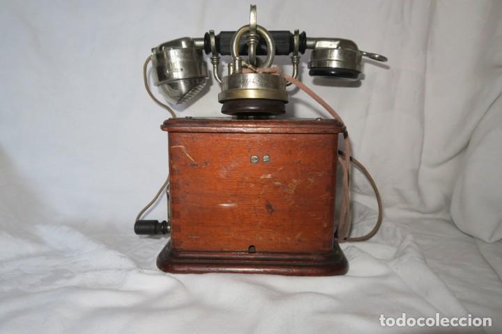 Teléfonos: Telefono antiguo modelo 1910 Thomsson Houstom en buen estado - Foto 6 - 168560400