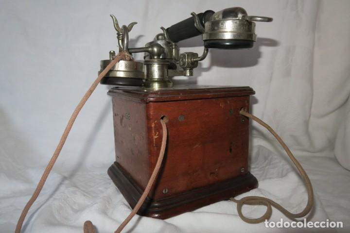 Teléfonos: Telefono antiguo modelo 1910 Thomsson Houstom en buen estado - Foto 7 - 168560400