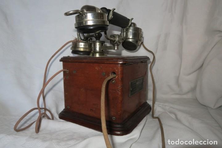 Teléfonos: Telefono antiguo modelo 1910 Thomsson Houstom en buen estado - Foto 8 - 168560400