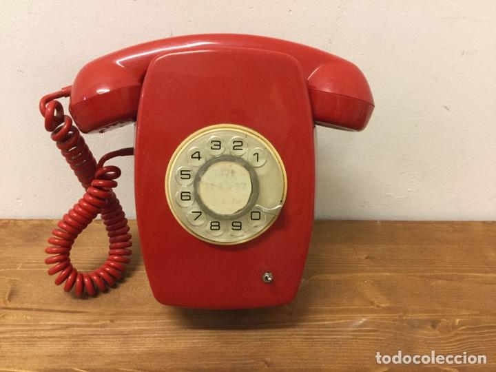 TELÉFONO DE PARED ECUALIZADO - CITESA - RETRO VINTAGE - ROJO (Antigüedades - Técnicas - Teléfonos Antiguos)