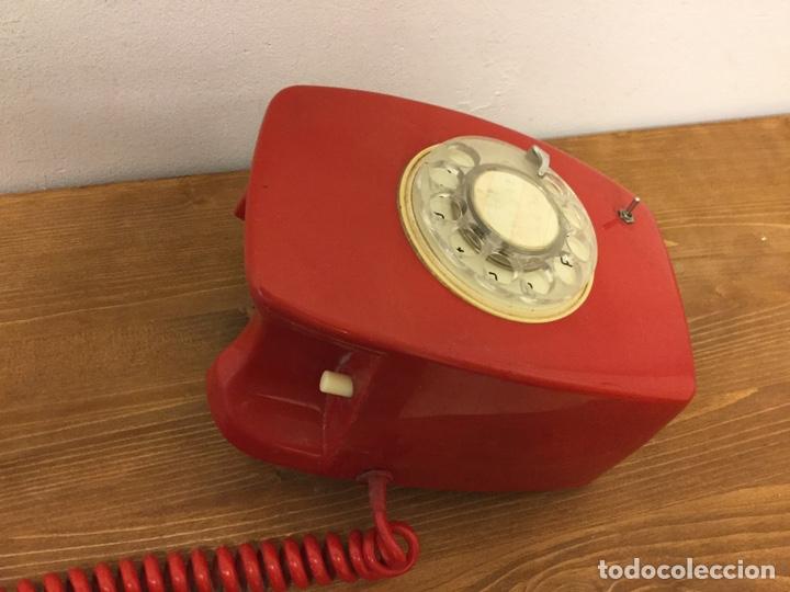 Teléfonos: TELÉFONO DE PARED ECUALIZADO - CITESA - RETRO VINTAGE - ROJO - Foto 3 - 168602162