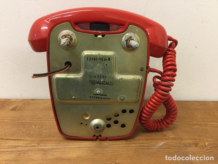 Teléfonos: TELÉFONO DE PARED ECUALIZADO - CITESA - RETRO VINTAGE - ROJO - Foto 4 - 168602162