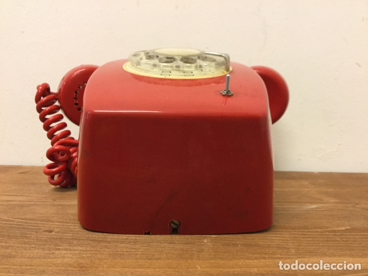 Teléfonos: TELÉFONO DE PARED ECUALIZADO - CITESA - RETRO VINTAGE - ROJO - Foto 6 - 168602162