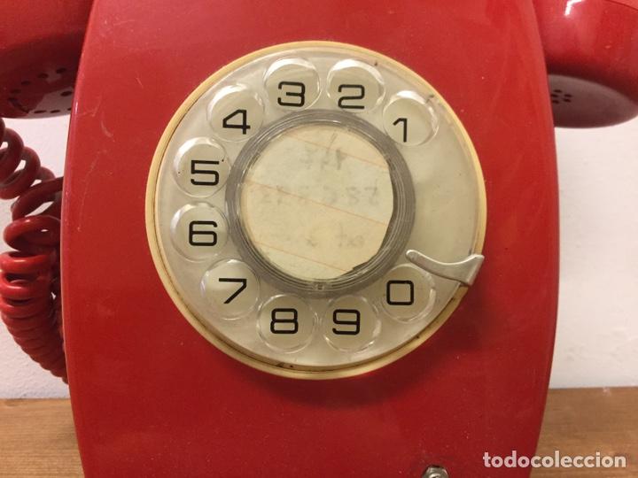 Teléfonos: TELÉFONO DE PARED ECUALIZADO - CITESA - RETRO VINTAGE - ROJO - Foto 7 - 168602162