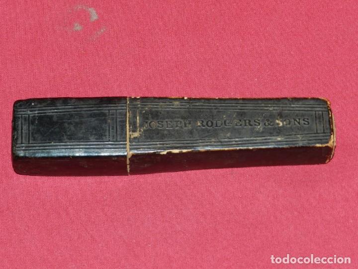 Antigüedades: (M) NAVAJA DE AFEITAR JOSEPH REDGERD & SONS 2 NAVAJAS CON ESTUCHE ORIGINAL - Foto 2 - 168603144