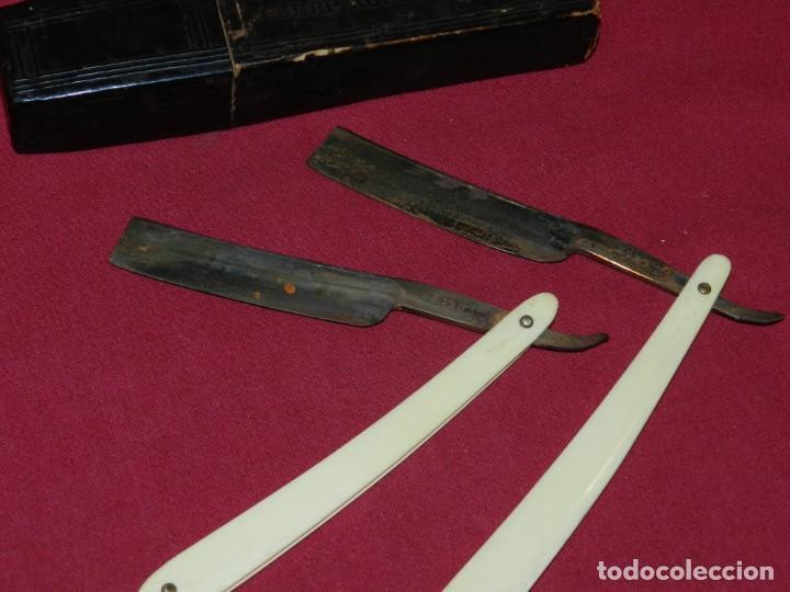 Antigüedades: (M) NAVAJA DE AFEITAR JOSEPH REDGERD & SONS 2 NAVAJAS CON ESTUCHE ORIGINAL - Foto 7 - 168603144