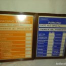 Antigüedades: FANTÁSTICA PAREJA DE CARTELES PRECIOS PESETAS DE CARNICERÍA. Lote 168635220