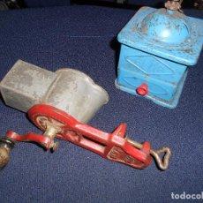 Antigüedades: PICADORA O TRITURADORA DE PAN 1440 Y MOLINILLO DE CAFE - AMBOS MARCA ELMA. Lote 168707956