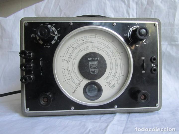 Antigüedades: Generador de variables Philips GM 4144 Puente de medida universal. años 50, con válvulas - Foto 2 - 168746208