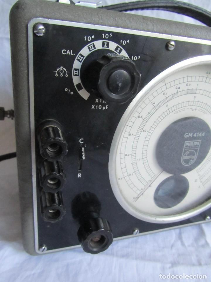 Antigüedades: Generador de variables Philips GM 4144 Puente de medida universal. años 50, con válvulas - Foto 3 - 168746208