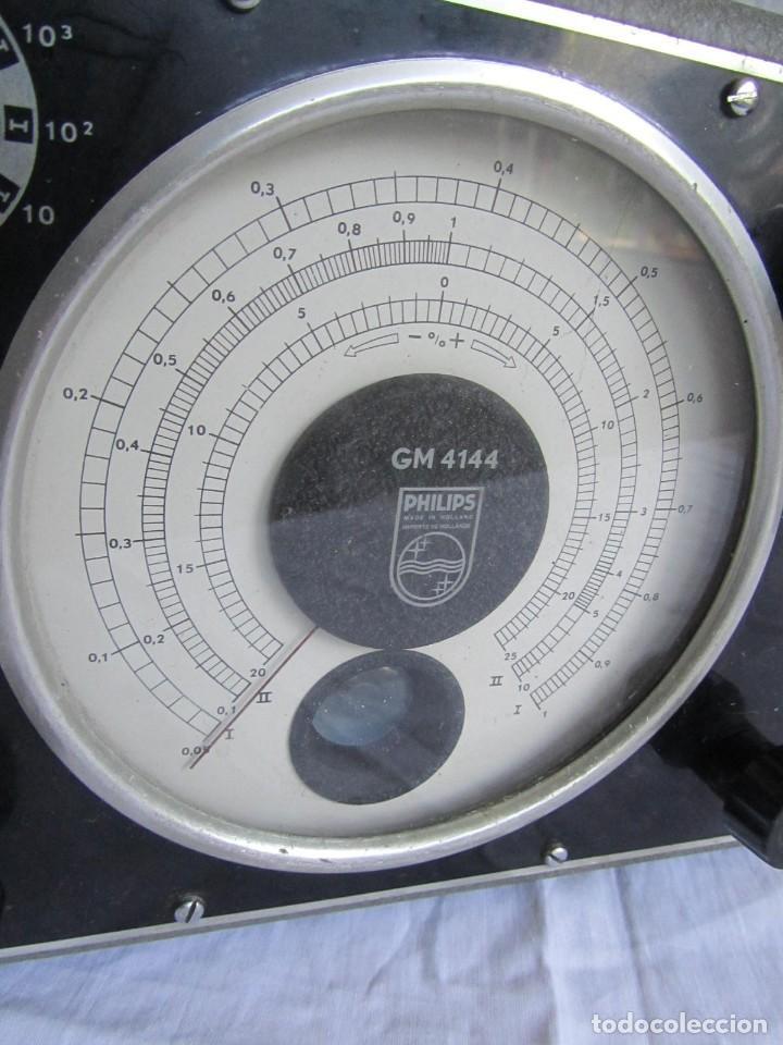 Antigüedades: Generador de variables Philips GM 4144 Puente de medida universal. años 50, con válvulas - Foto 4 - 168746208