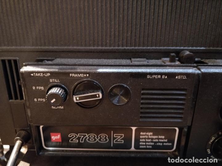 Antigüedades: Proyector GAF 2788 Z - Dual 8mm, Super 8, Automático y diferentes velocidades - Foto 5 - 168790112