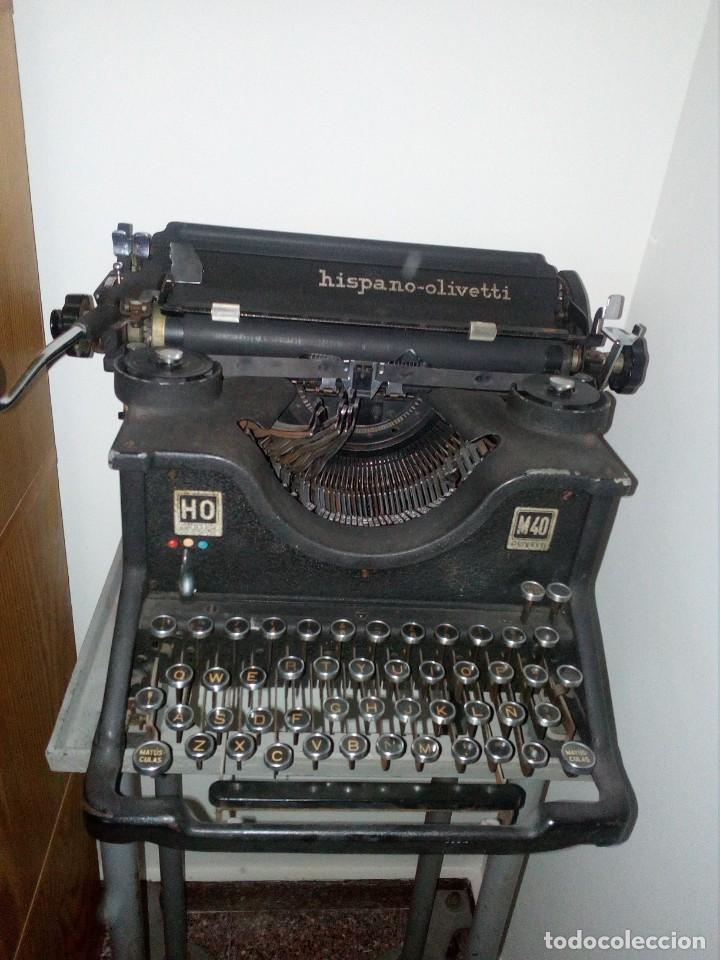Antigüedades: Maquina escribir Hispano Olivetti de los años 30 - Foto 2 - 168812780
