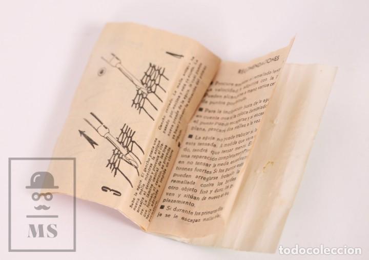 Antigüedades: Aguja para Remallado de Medias / Remalladora - Voge - Folleto de Instrucciones - Años 60 - Foto 4 - 168818964