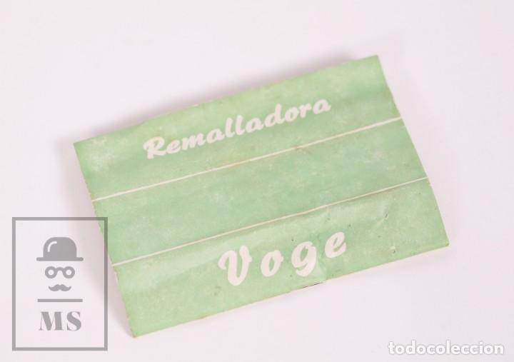 Antigüedades: Aguja para Remallado de Medias / Remalladora - Voge - Folleto de Instrucciones - Años 60 - Foto 5 - 168818964