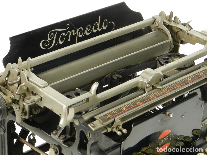 Antigüedades: RARA TORPEDO Mod.5 AÑO 1911 Máquina de escribir Typewriter Schreibmaschine - Foto 3 - 168851940