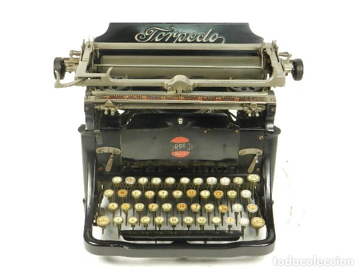 Antigüedades: RARA TORPEDO Mod.5 AÑO 1911 Máquina de escribir Typewriter Schreibmaschine - Foto 6 - 168851940